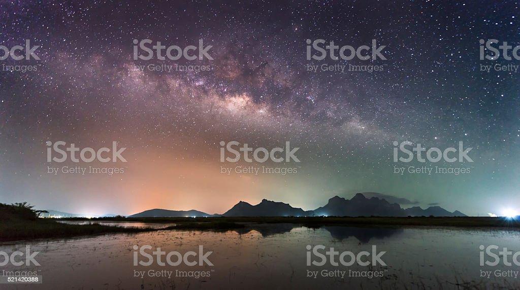 Milky Way Thailand stock photo