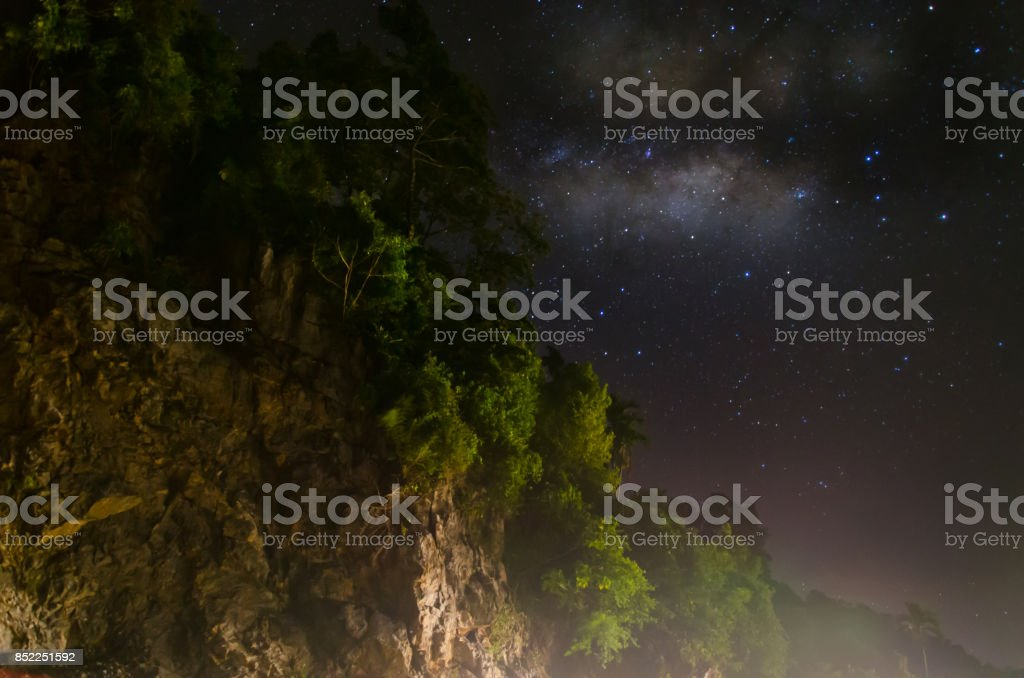 milkyway aceh stock photo
