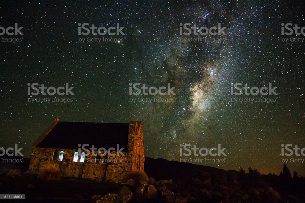 Milkyway at Lake Tekapo stock photo