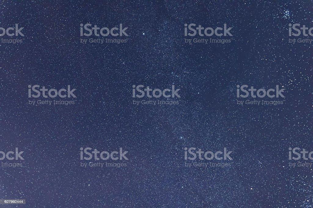 Milkyway cosmos background Constellations Auriga, Taurus, Lynx, stock photo