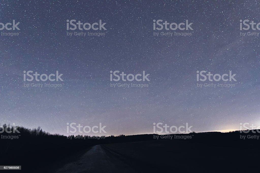 Milkyway cosmos background Constellations Eridanus, Cetus, Pisces, Pegasus stock photo