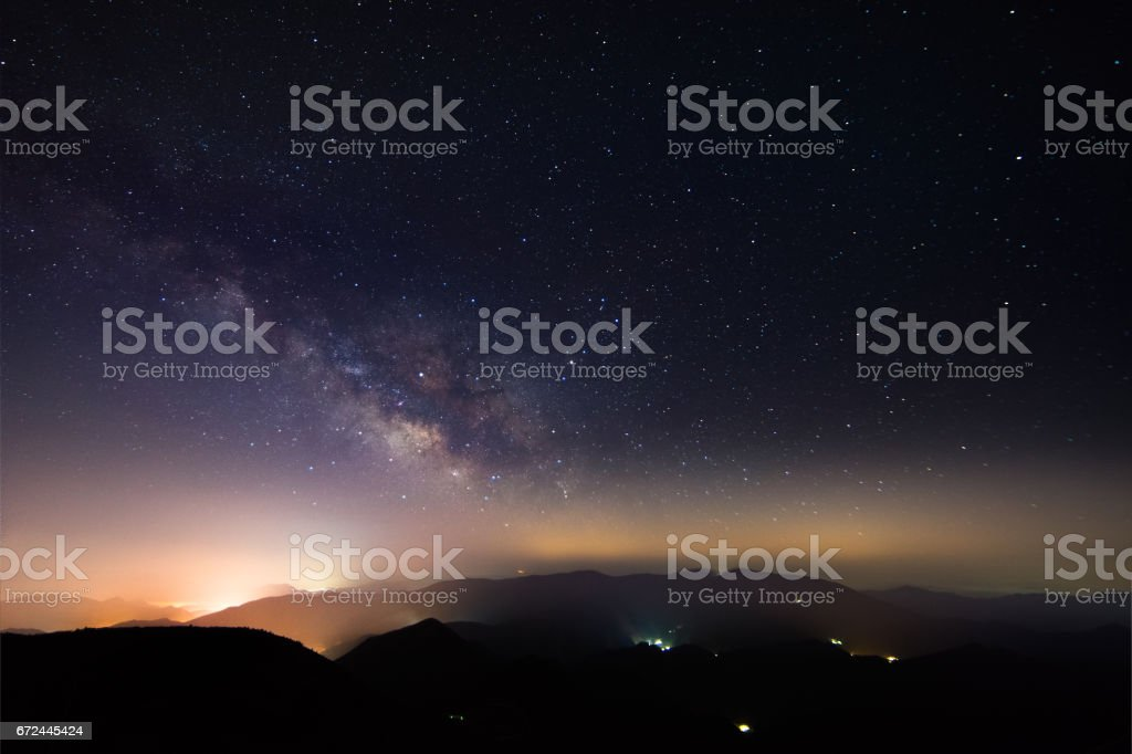 milkyway stock photo