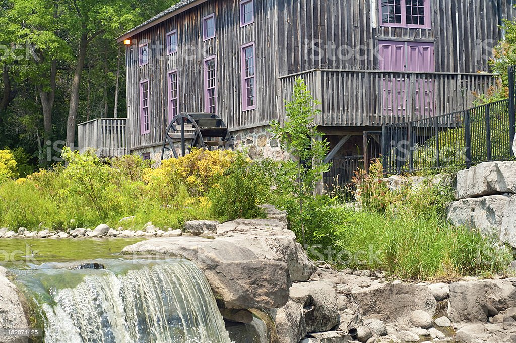 Mill and Waterfall royalty-free stock photo