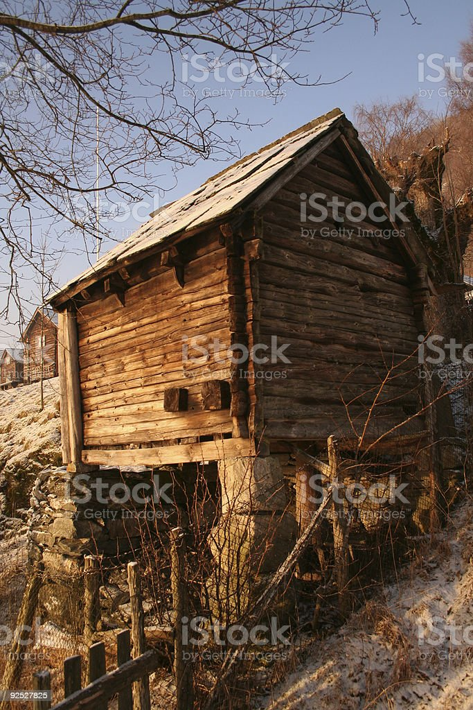Mill at Voss stock photo