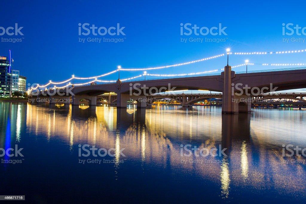Mill Avenue Bridge Tempe Arizona stock photo