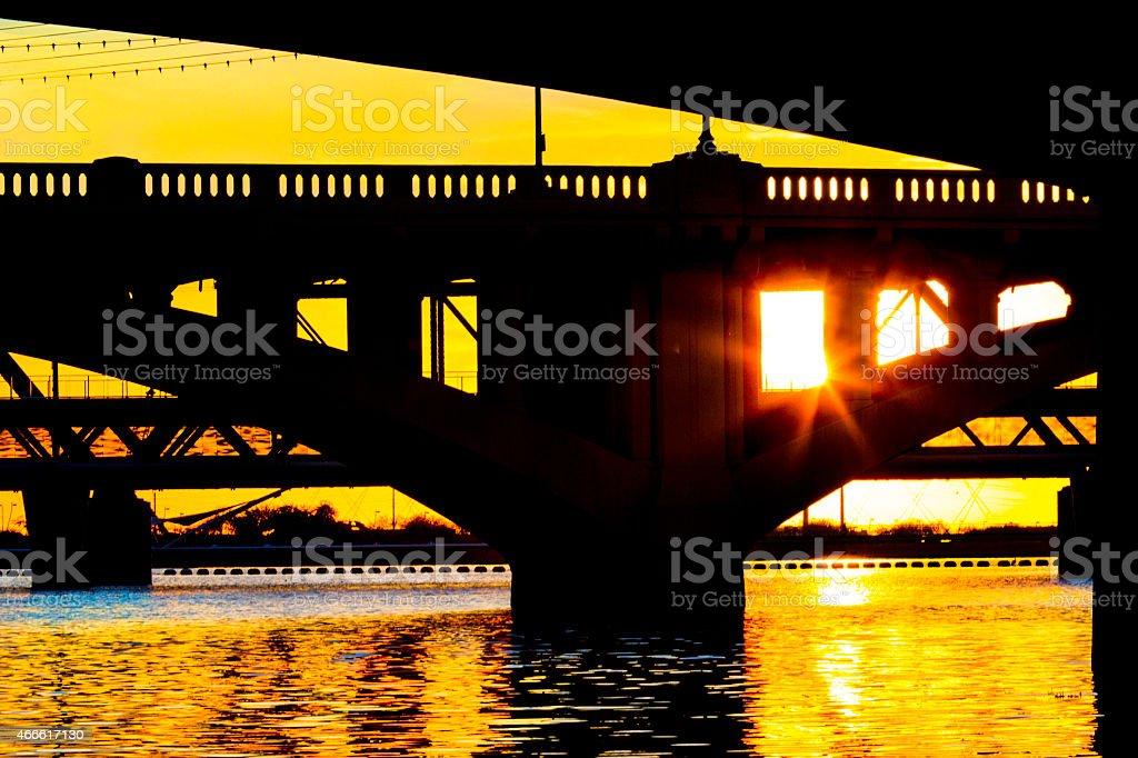 Mill Bridge Tempe Arizona stock photo