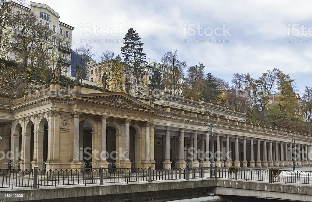 Mill Colonnade,Karlovy Vary stock photo