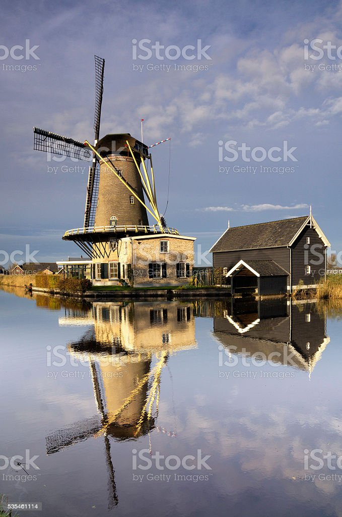 Mill 'de Vriendschap' in Bleskensgraaf stock photo