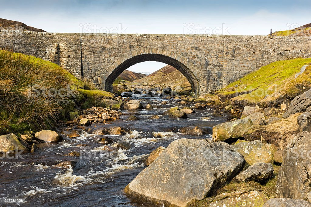 Mill Gill And Surrender Bridge, Swaledale, Yorkshire Dales stock photo