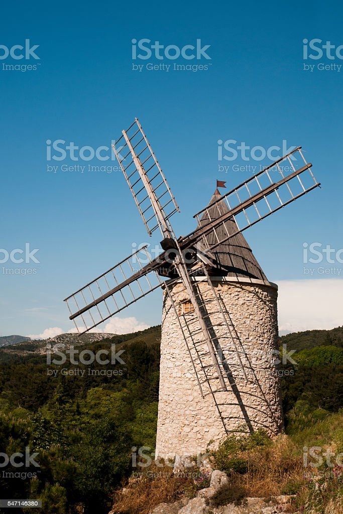 Mill in Allauch – France stock photo