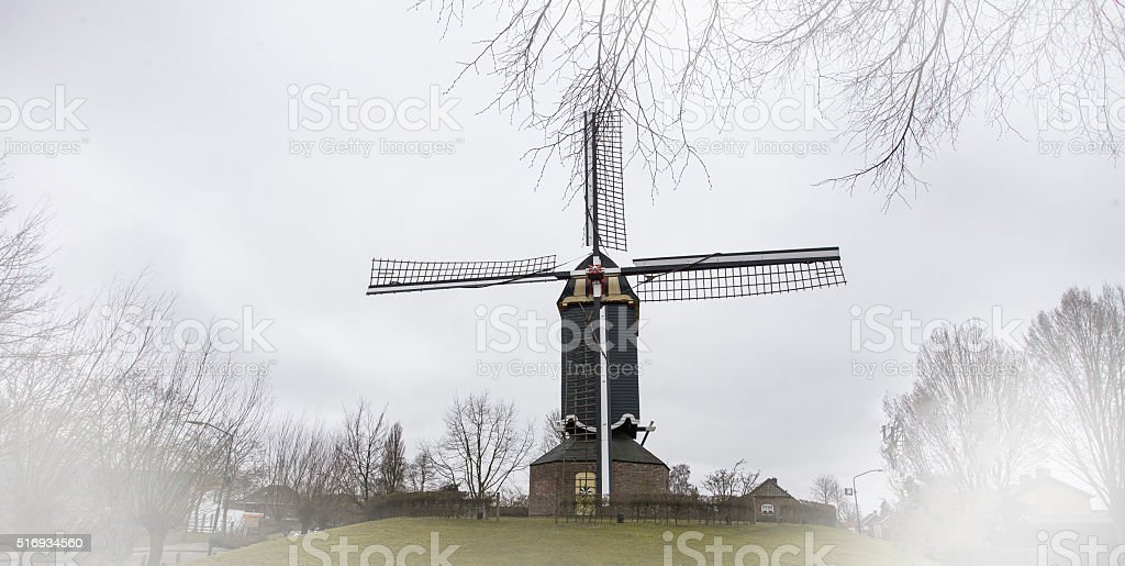 Mill in the Netherlands stock photo