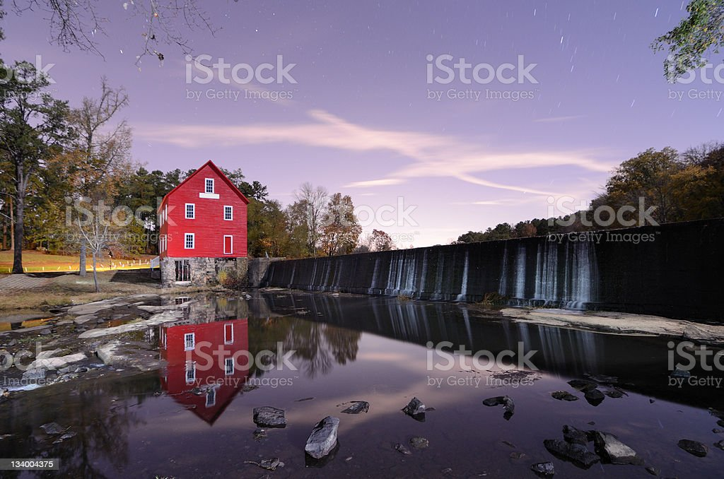 Mill on a Dam stock photo