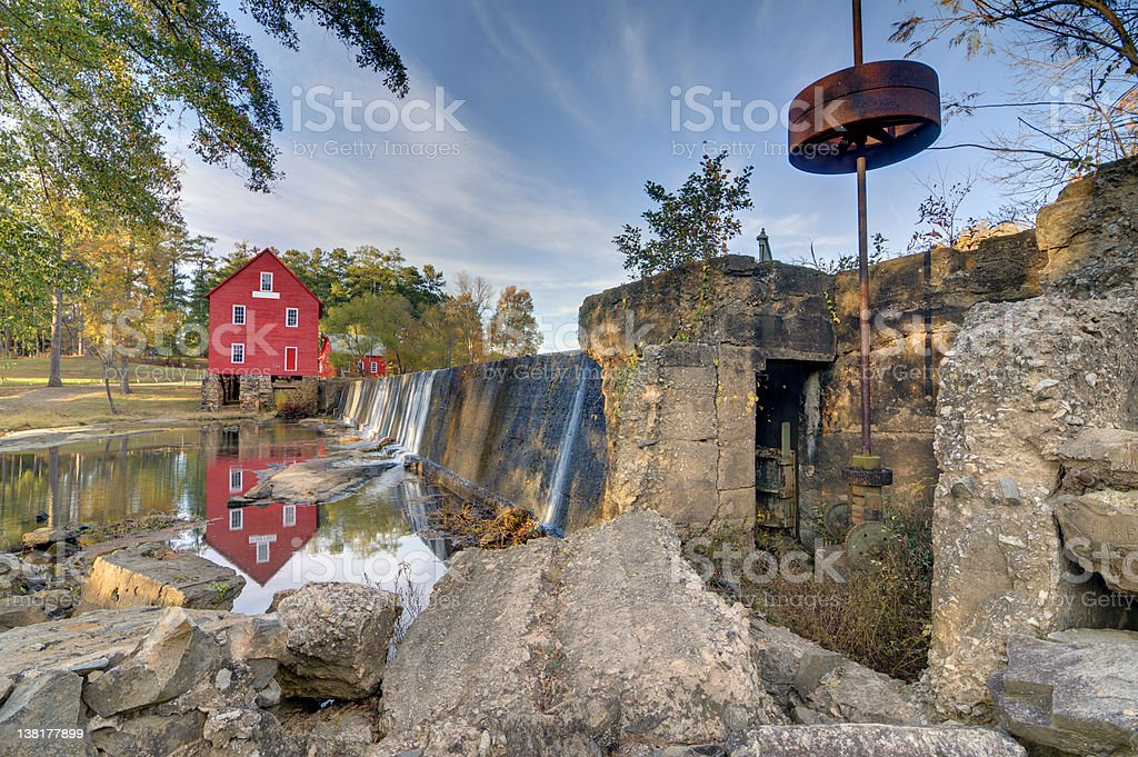 Mill on a Dam royalty-free stock photo