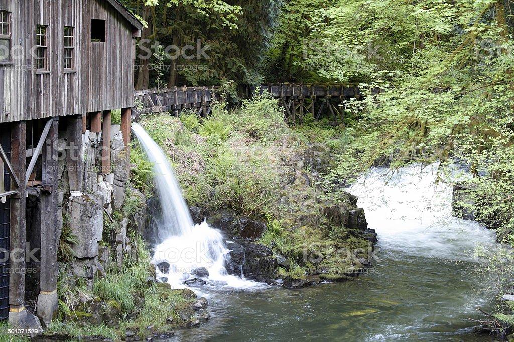 Mill Waterfall into Cedar Creek stock photo