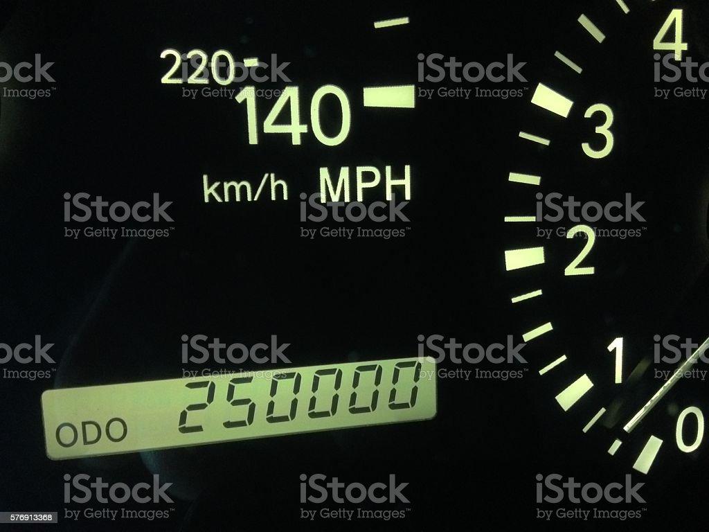 Millage Milestone stock photo