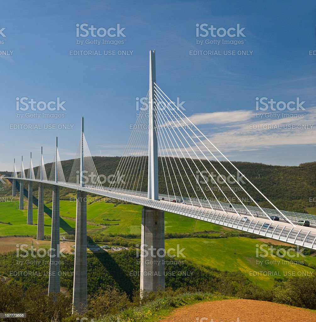 Millau Bridge royalty-free stock photo