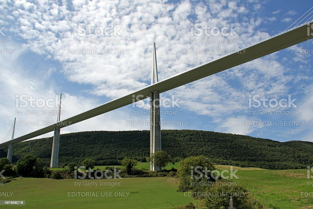 Millau Viaduct, France stock photo