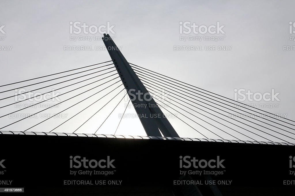 Millau Viaduct, France stock photo