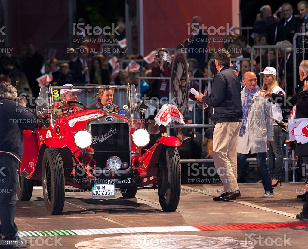 Mille Miglia 2013 arrivals in Rome royalty-free stock photo