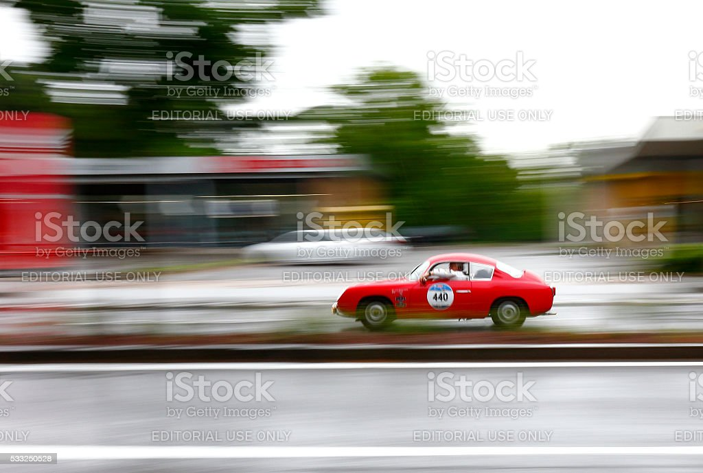 Mille Miglia 2016 Edition in Brescia, Italy stock photo