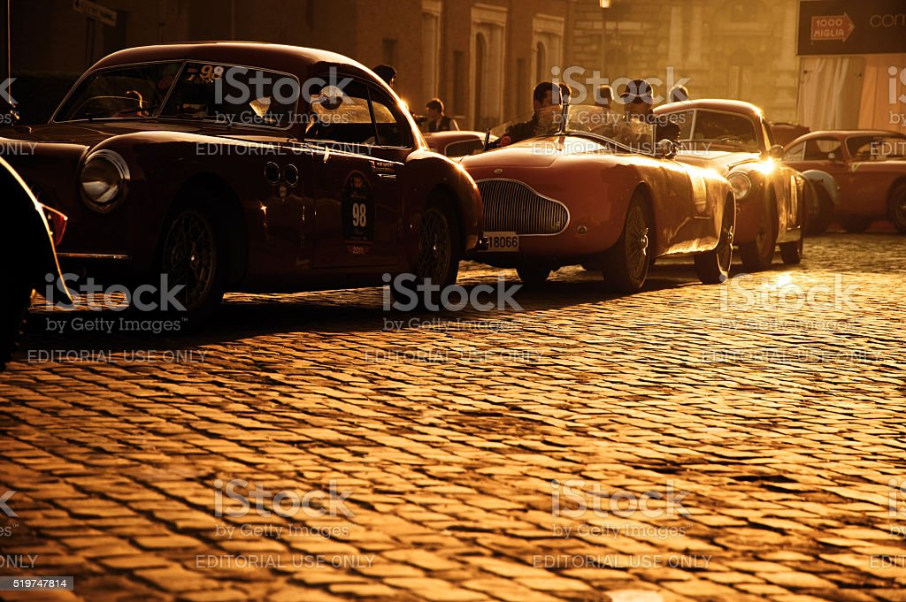 Mille Miglia - Vintage Car Race stock photo