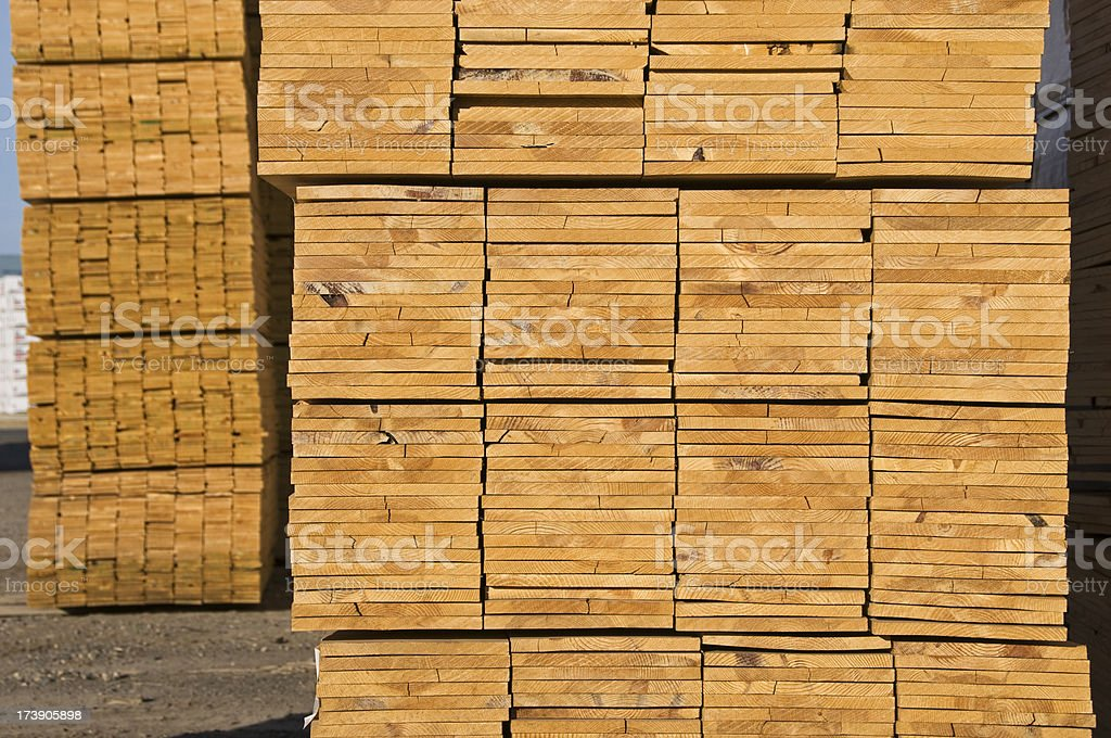 Milled wood stock photo