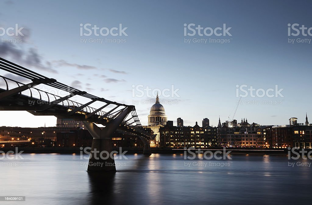 Millenium Bridge, London royalty-free stock photo