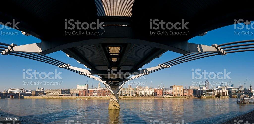Millenium Bridge London royalty-free stock photo