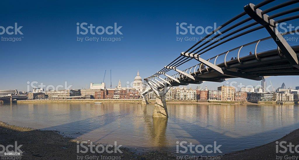 Millenium Bridge St Pauls London stock photo