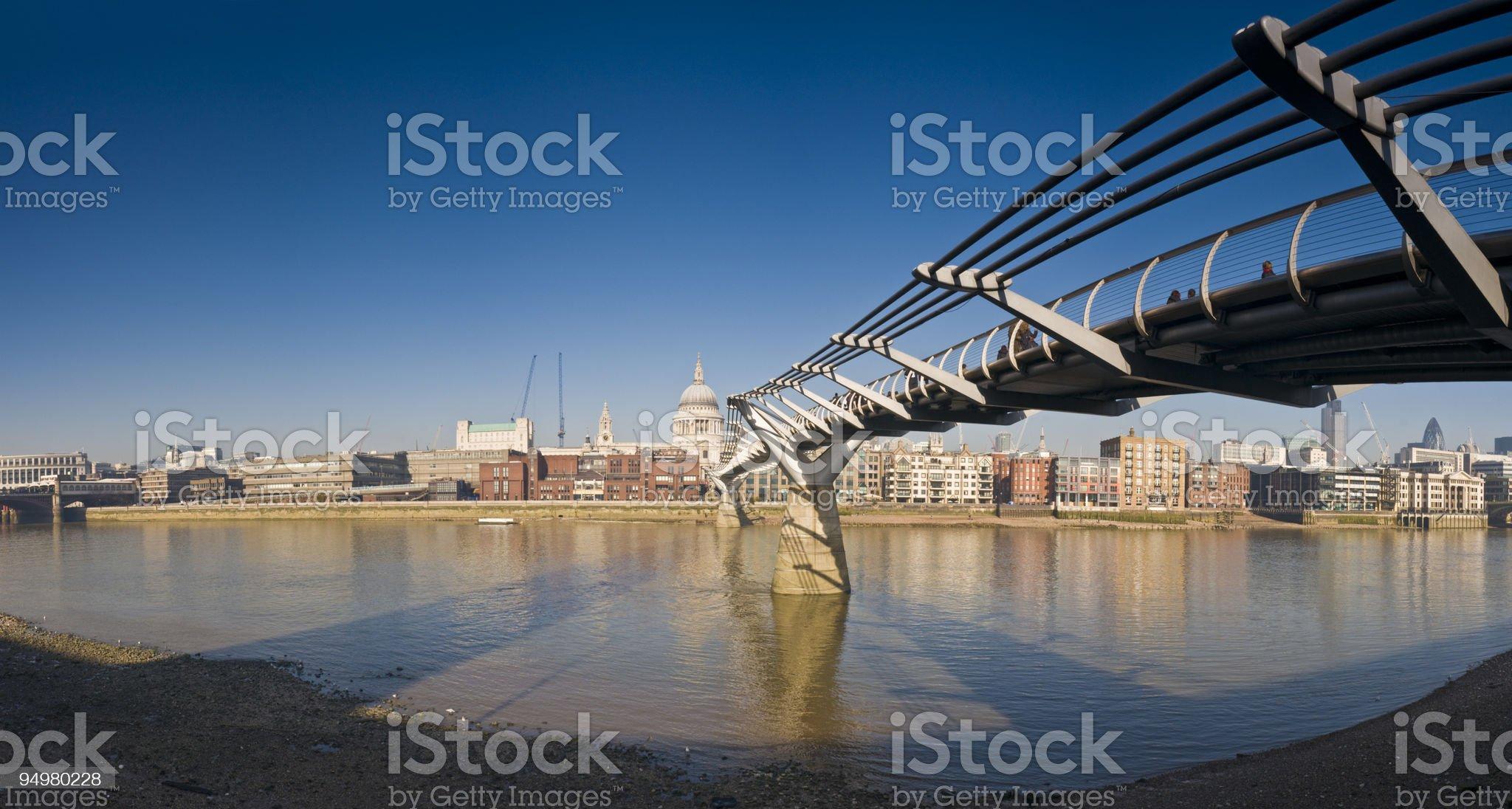 Millenium Bridge St Pauls London royalty-free stock photo