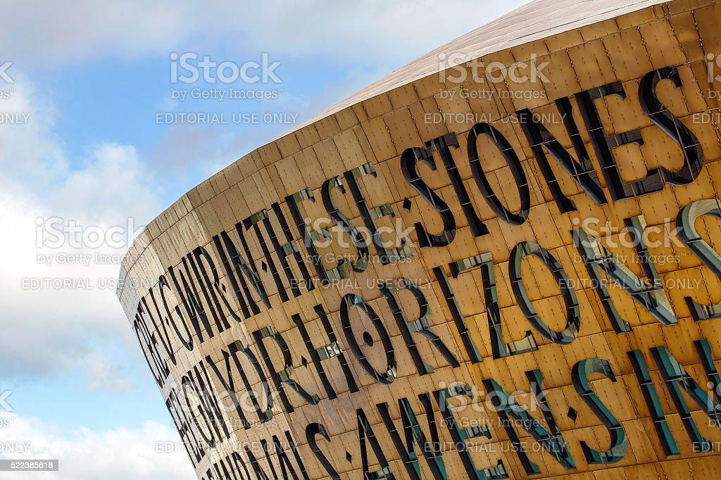 Millenium Centre - Wales stock photo
