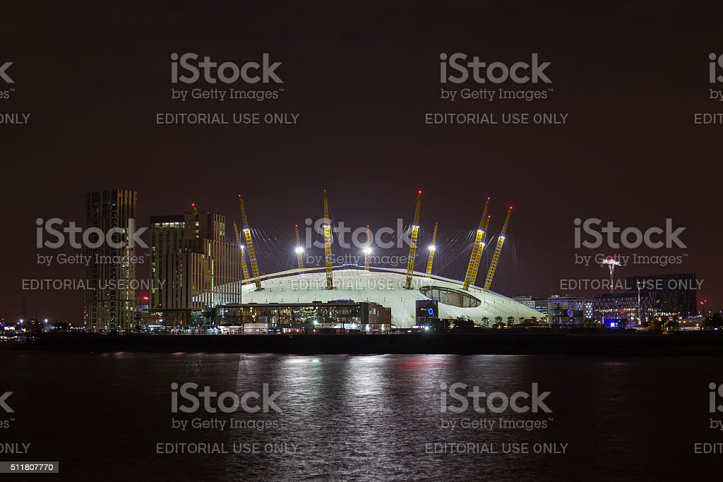Millenium Dome and New Apartments stock photo