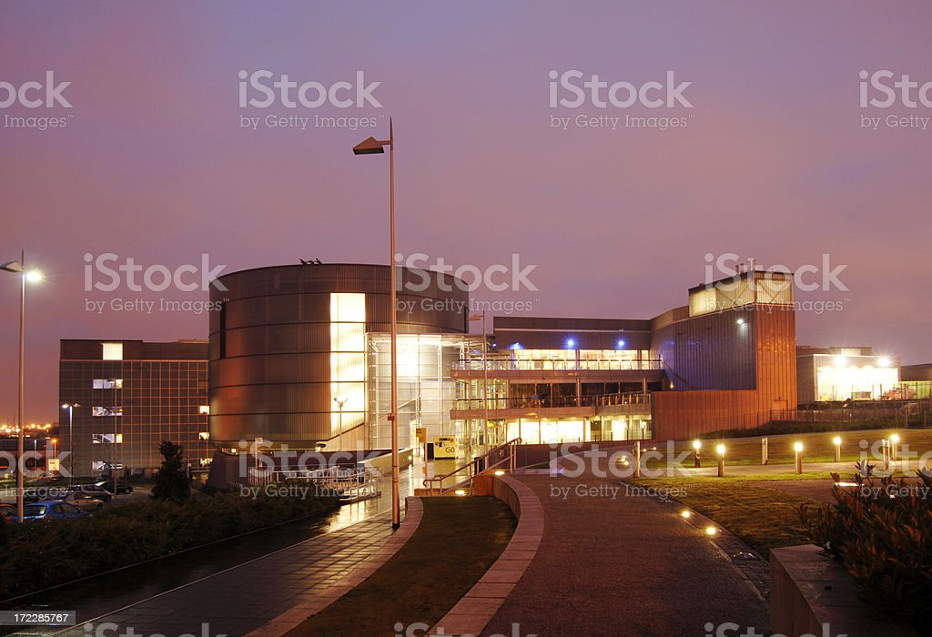Millenium Point Building at Dawn, Birmingham royalty-free stock photo