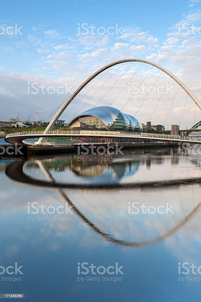 Millennium Bridge, Gateshead, Newcastle-Upon-Tyne stock photo