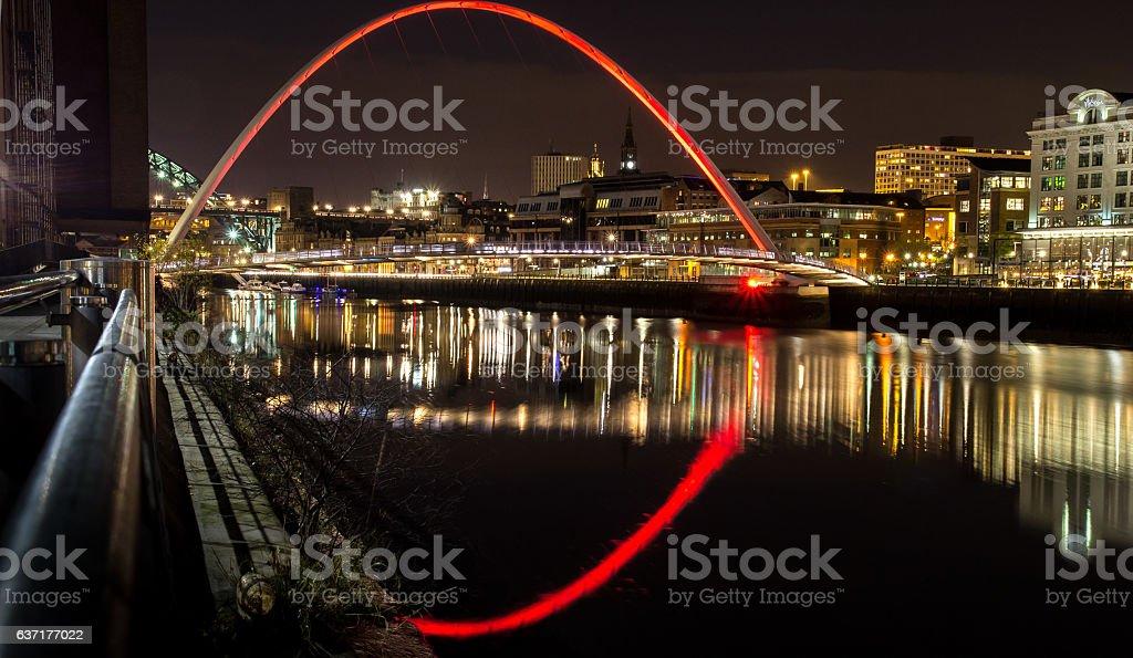 Millennium Bridge, Gateshead, UK stock photo