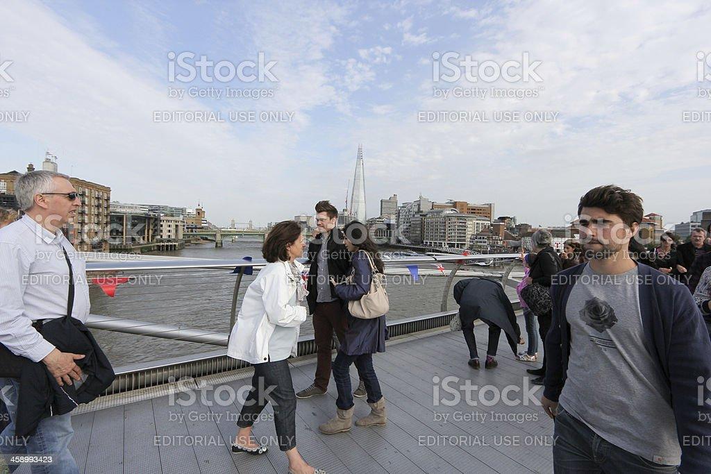 Millennium Bridge in London, England royalty-free stock photo