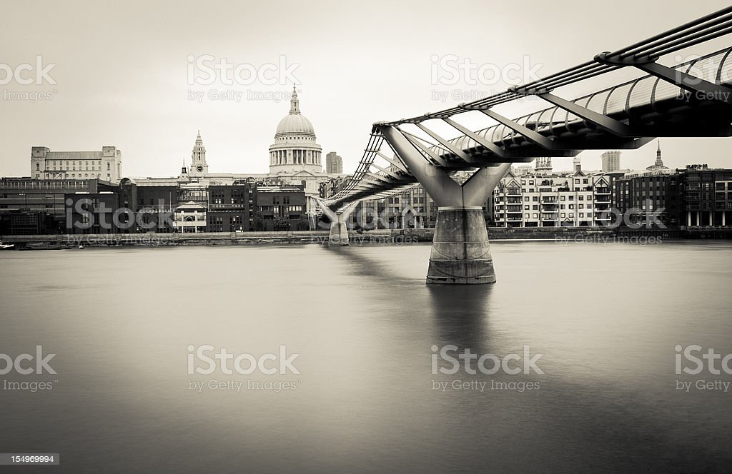 Millennium Bridge in London royalty-free stock photo