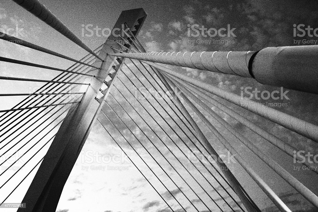 Millennium bridge in Podgorica, Montenegro royalty-free stock photo