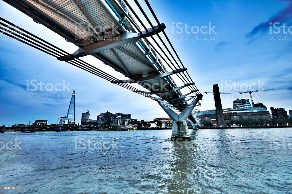 Millennium Bridge London stock photo