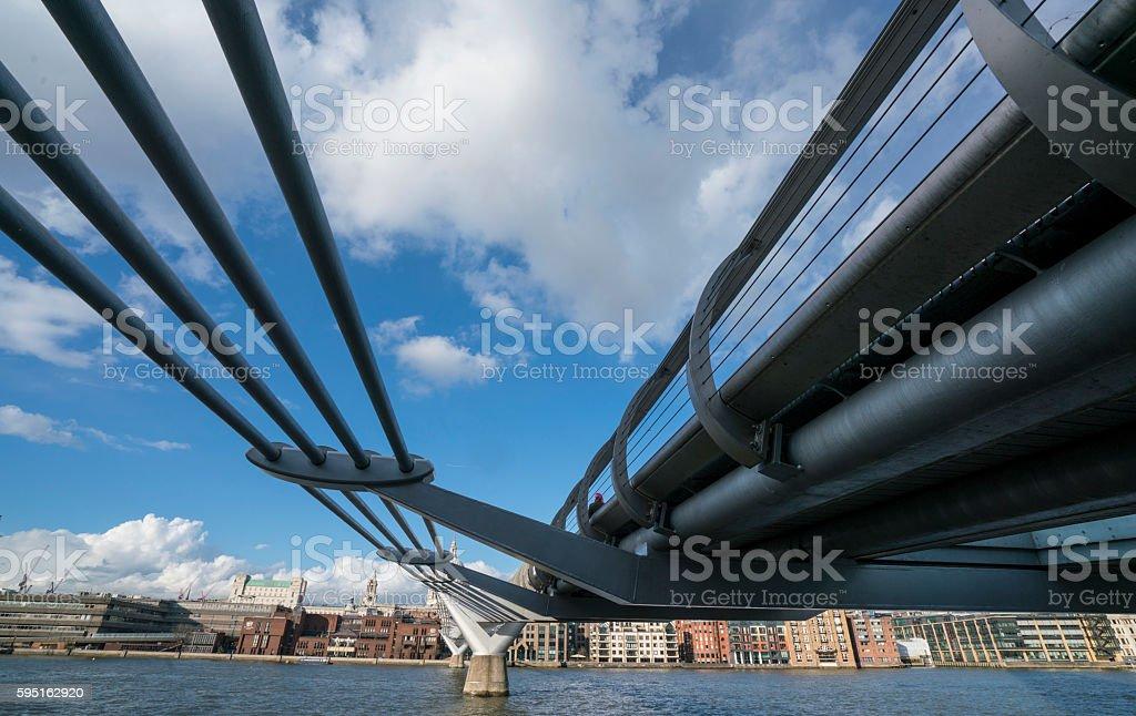 Millennium Bridge in London  Lizenzfreies stock-foto