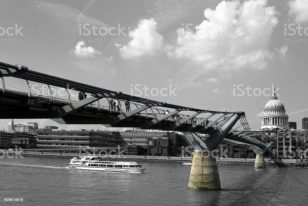 Millennium Bridge - London stock photo