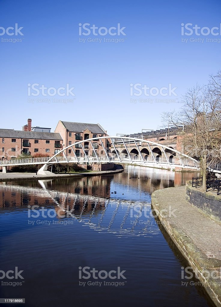 Millennium Bridge royalty-free stock photo
