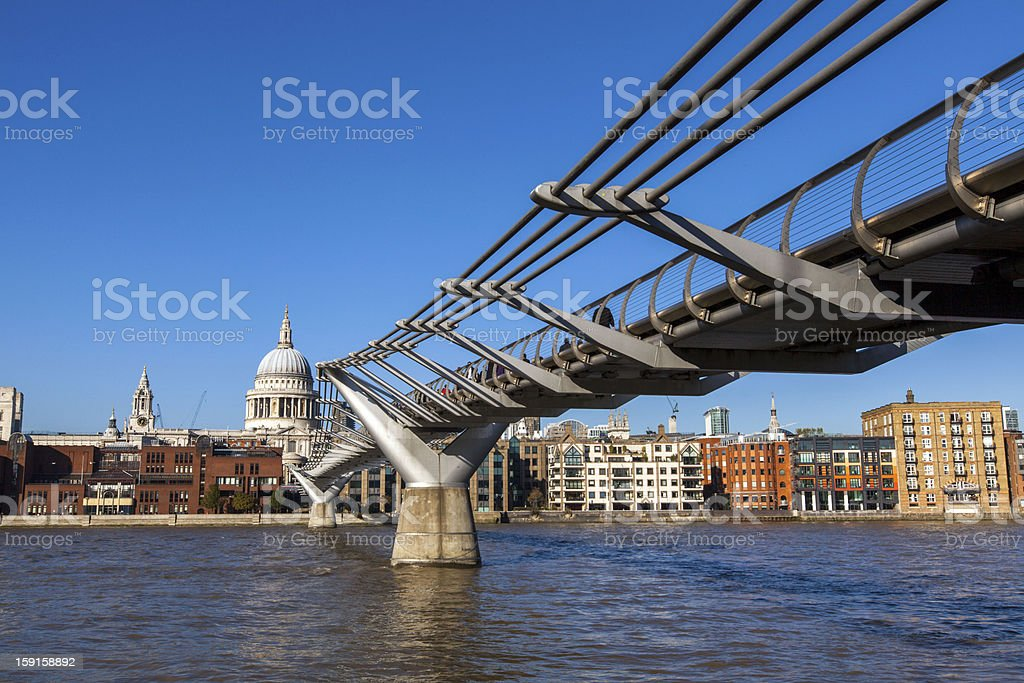 Millennium Bridge royalty-free stock photo
