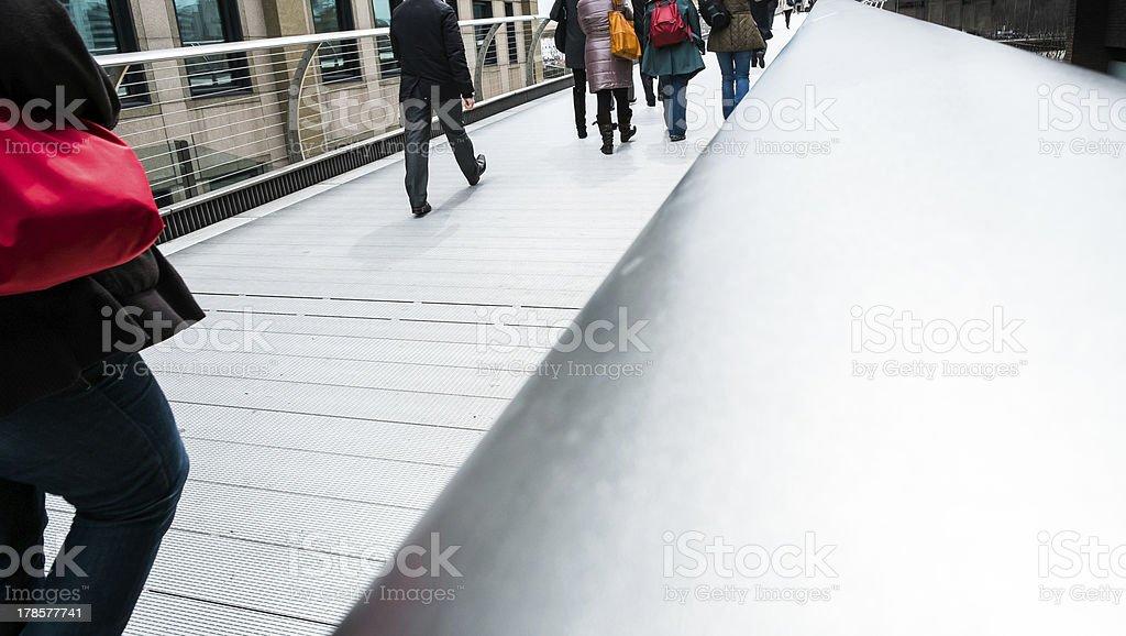 Millennium Bridge walk royalty-free stock photo