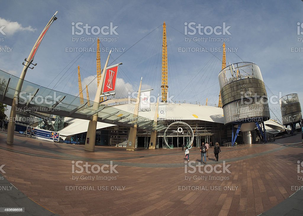 Millennium Dome in London stock photo