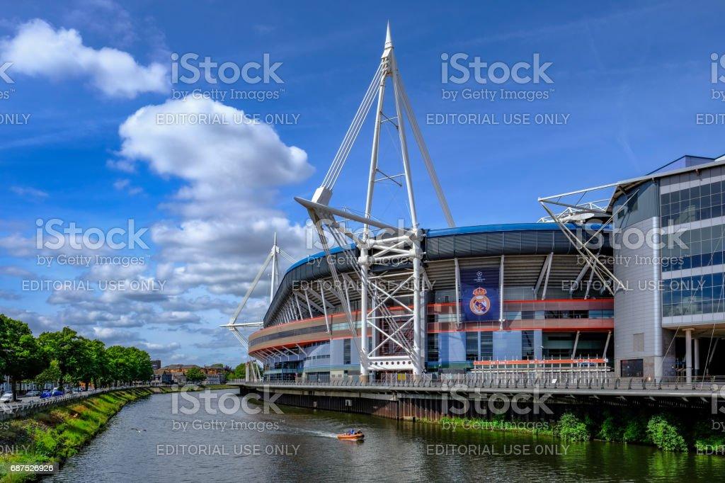 Cardiff, Wales - May 21, 2017: Millennium Football Stadium stock photo
