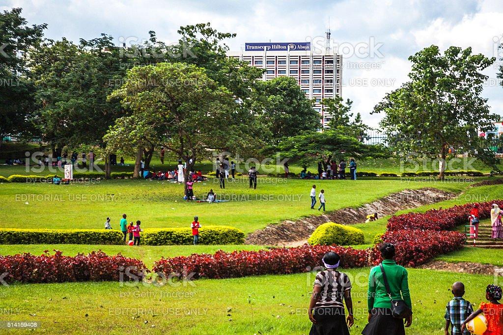 Millennium Park. Abuja, Nigeria. stock photo