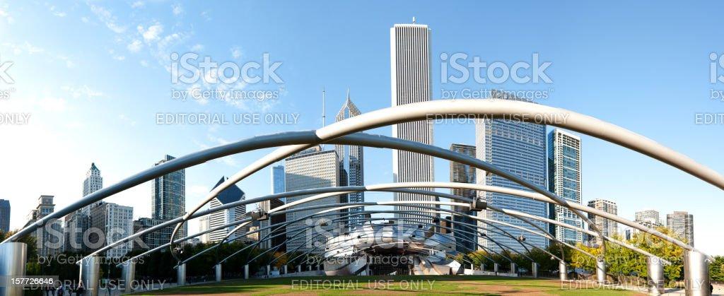 Millennium Park Chicago Panorama stock photo