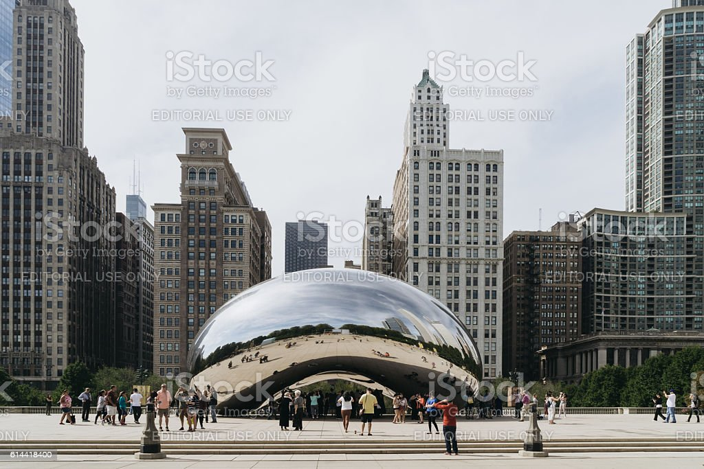 Millennium Park in Chicago, Illinois. stock photo
