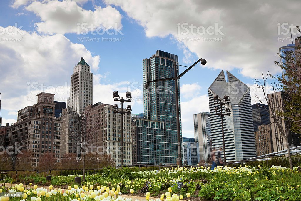Millennium Park in Chicago stock photo